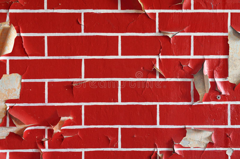 Download Old Wall With Flaky Paint. Pattern Of Bricks. Stock Image - Image: 23835515