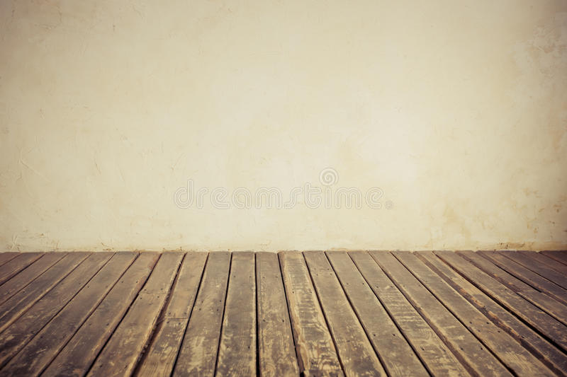 Old wall and floor. Copy space stock image