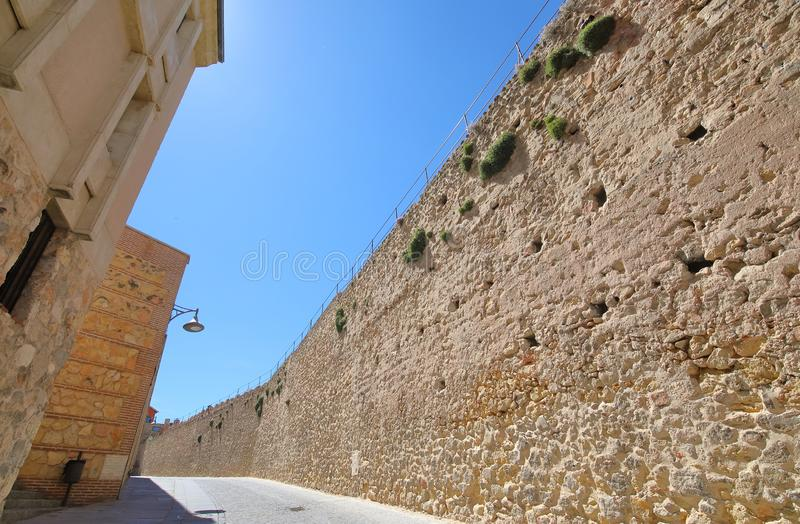 Old wall fortress building Segovia Spain stock photography