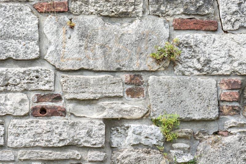 Wall of stone. stock photo
