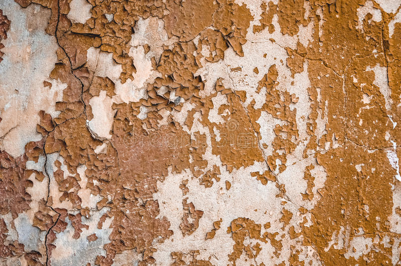 Old wall grunge textures backgrounds. With cracks and peeling paint royalty free stock photos