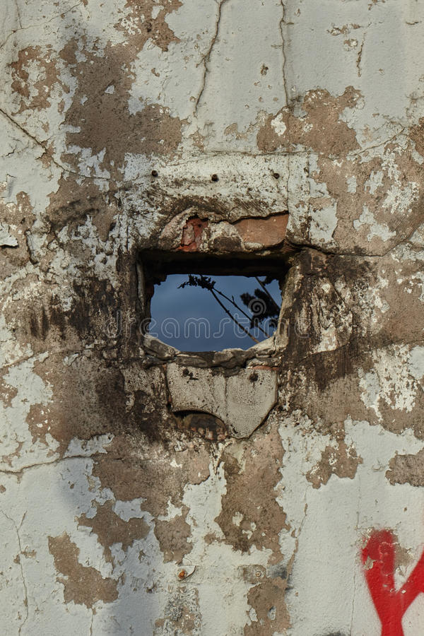 Old Wall With Hole royalty free stock image