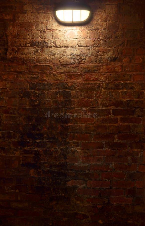 Brick Wall at Night royalty free stock photos