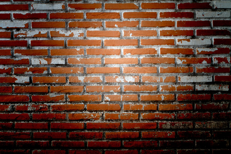 Old Wall from a red brick. As a Background stock image