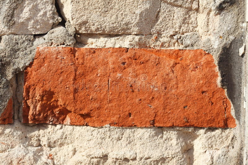 Old Wall. Wall with red old bricks stock photo