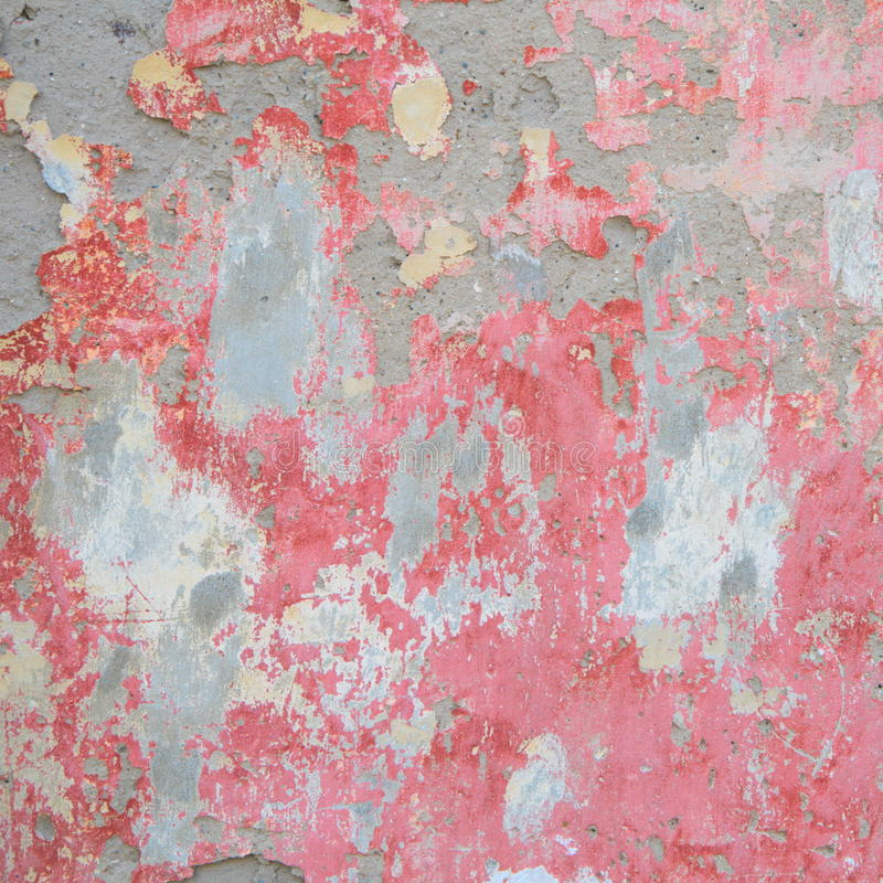 Old wall with red crumbling plaster royalty free stock images