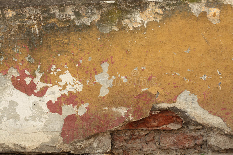 Old Wall Texture. Old wall with cracked plaster. Background texture royalty free stock photo