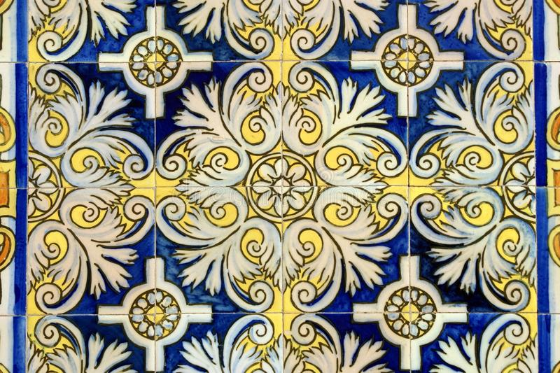 Old wall tiles in Barcelona stock image