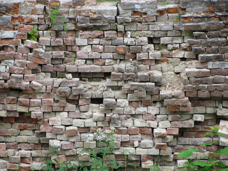 Old wall. Vintage decor. Old plaster and brick royalty free stock photos