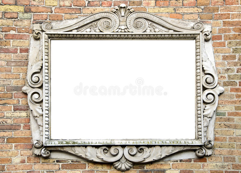 Download Old Wall With Vintage Frame For Text Stock Image - Image of picture, architecture: 22647423