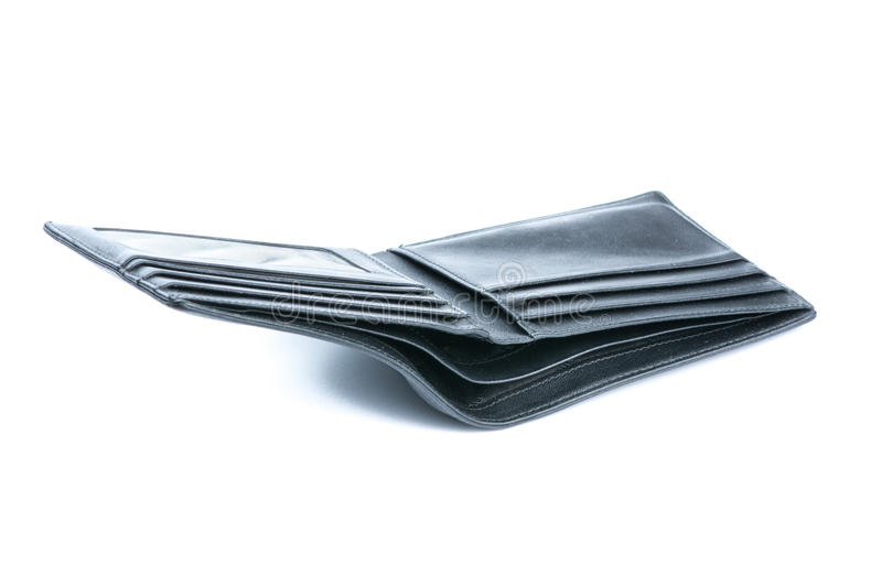 Old wallet. Isolated on white background royalty free stock photography