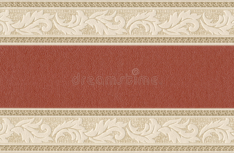 Old wallpaper element. Old textile wallpaper with floral design stock photos