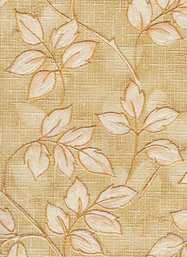 Old wallpaper element stock image