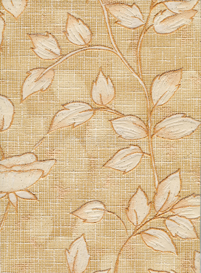Old wallpaper element stock images