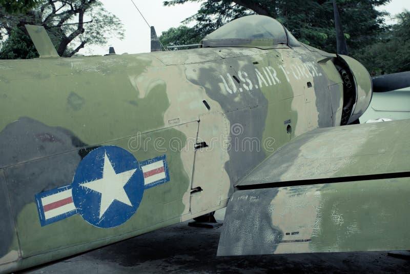Old war Airplane. Vintage military old war airplane stock photos