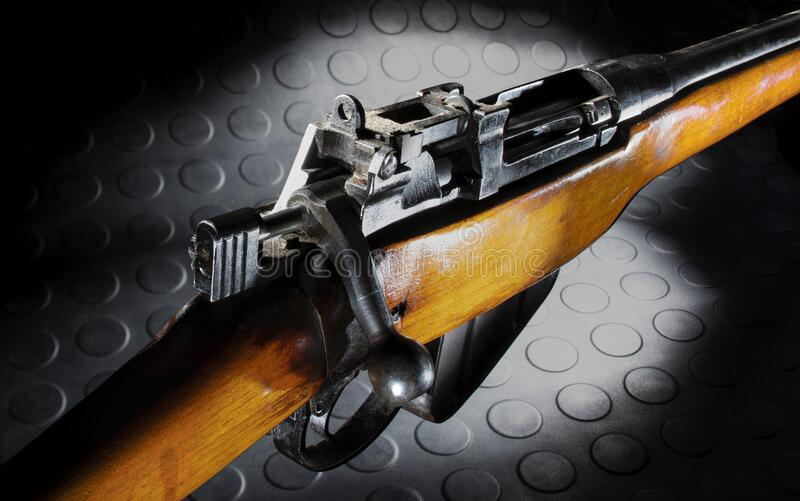 Sporterized war surplus rifle stock images