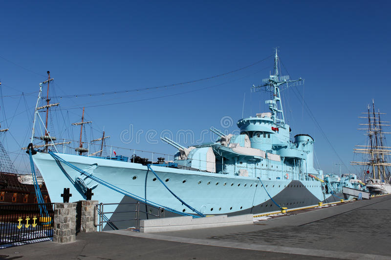 Download Old Warship From Second World War Stock Photo - Image: 13369396