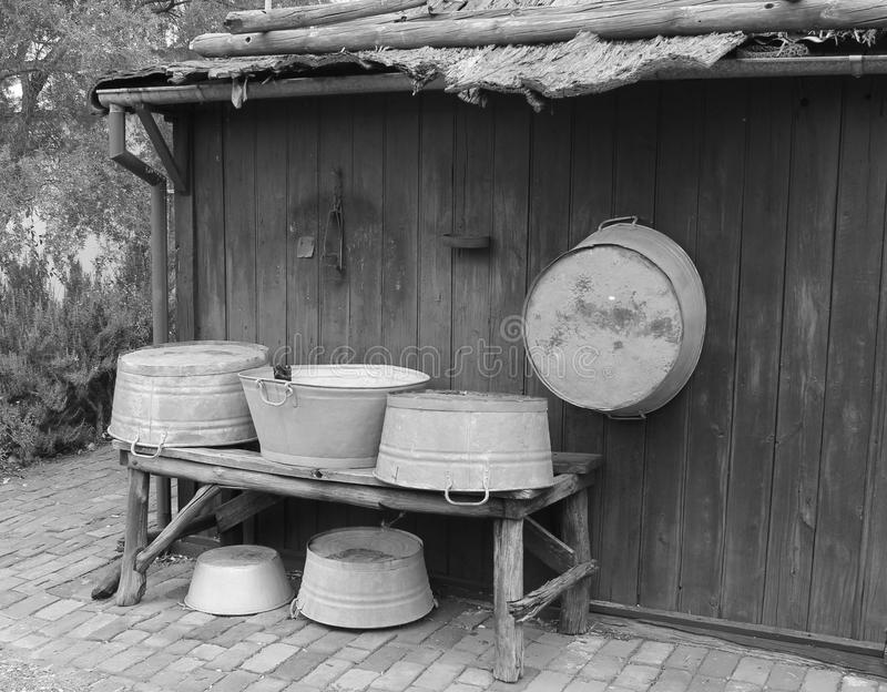 Old Washing Tubs royalty free stock images