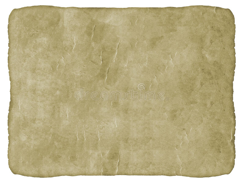 Old Paper in White Background. royalty free stock image