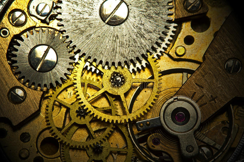 Old Watch Mechanism Royalty Free Stock Photo