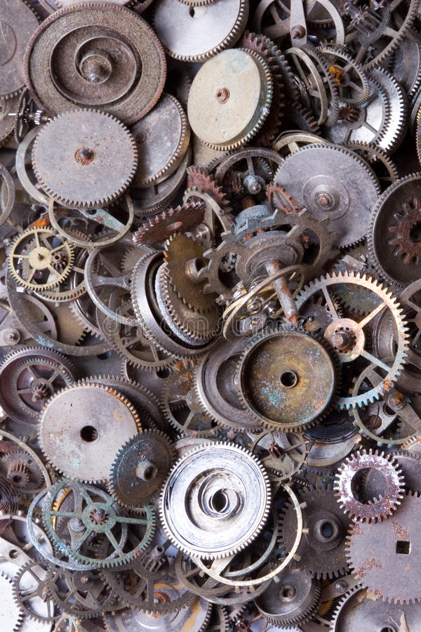 Old watch parts. Image for background royalty free stock images