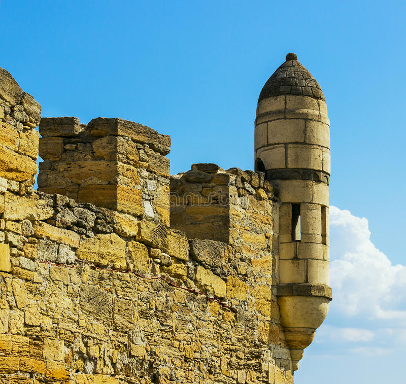 Old watchtower. Against the sky royalty free stock images