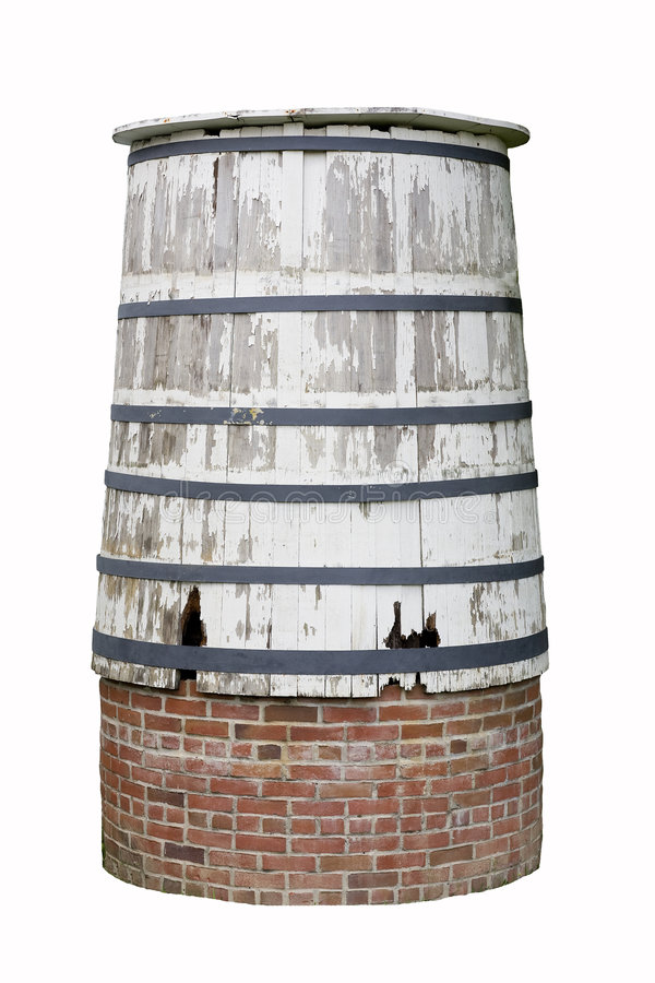 Old Water Barrel stock photography