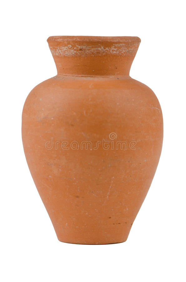 Old water ceramic vase royalty free stock photo