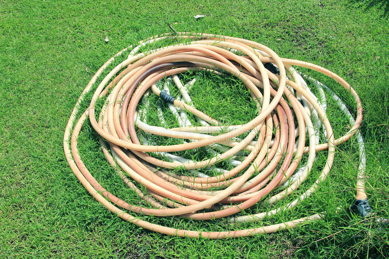 Old water hose stock images