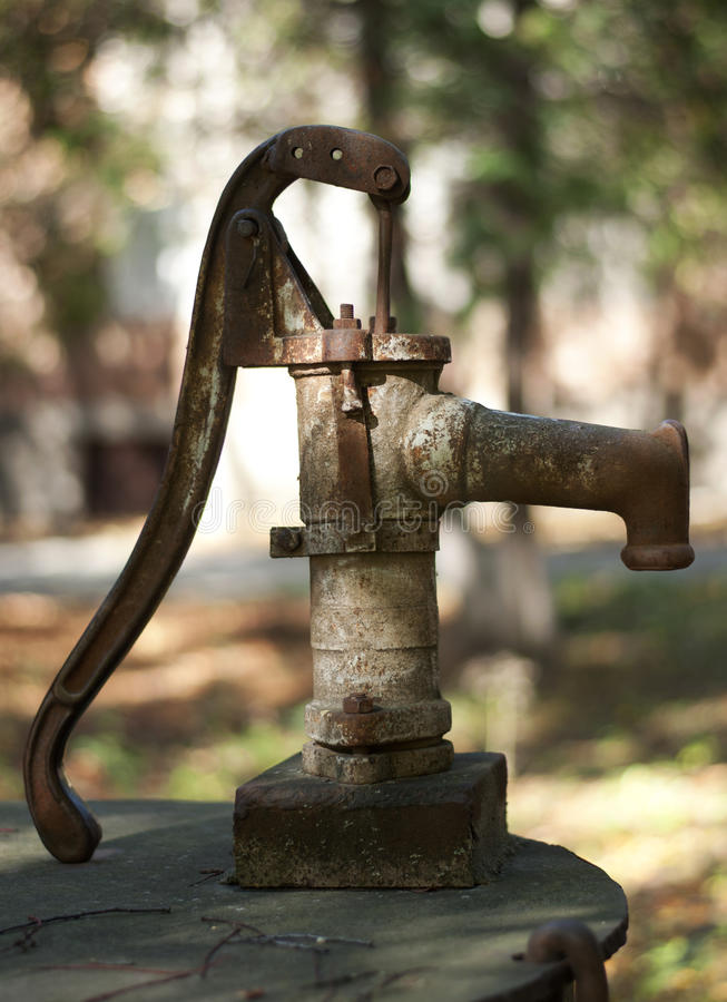 Download Old water pump stock photo. Image of rusty, natural, connect - 27268110