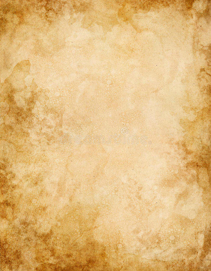 Old Water Stained Paper stock illustration