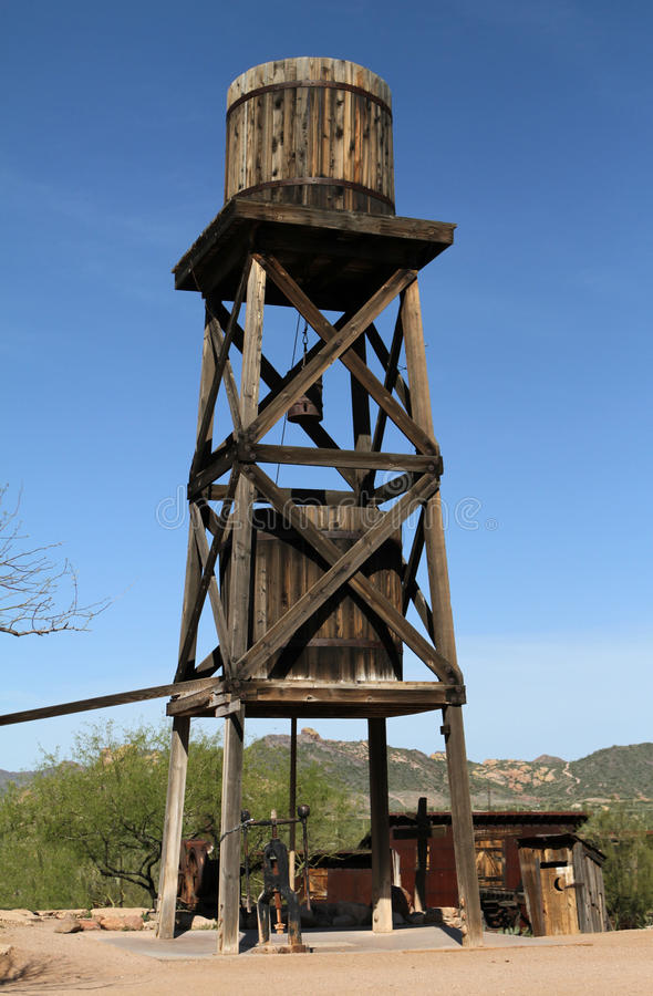 Download Old Water Tower stock image. Image of tower, wooden, western - 14904627