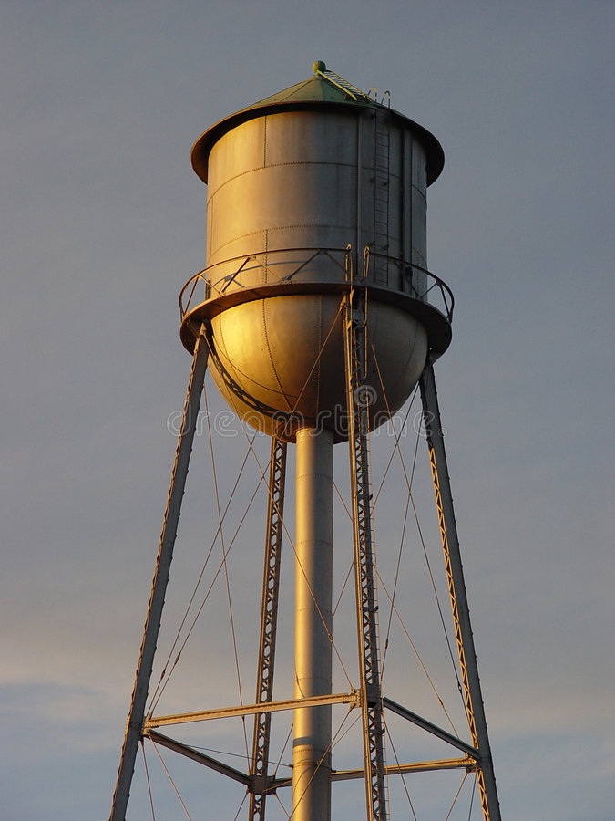 Download Old Water Tower stock image. Image of gold, pipes, structure - 44117