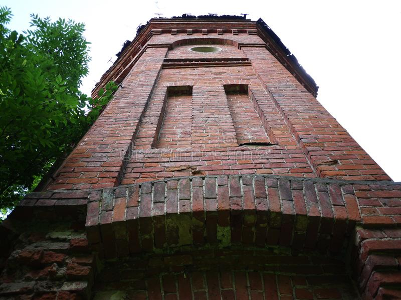 Old water tower. Beautiful tower in refined style. Details and close-up. royalty free stock images