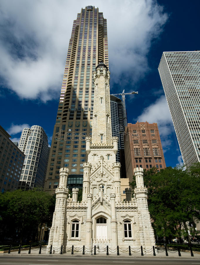 Free Old Water Tower, Chicago Stock Photo - 10454540
