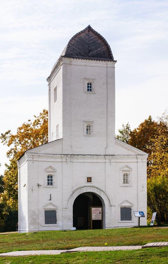 Old water tower Kolomenskoye Park. Moscow stock photos
