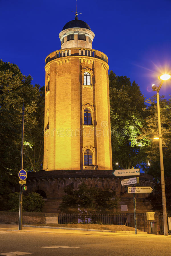 Old water tower in Toulouse stock photography
