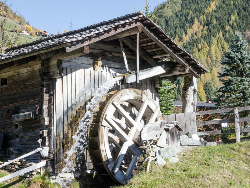 Old watermill stock photography