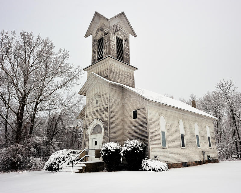Old Weather Beaten church, Michigan USA stock image