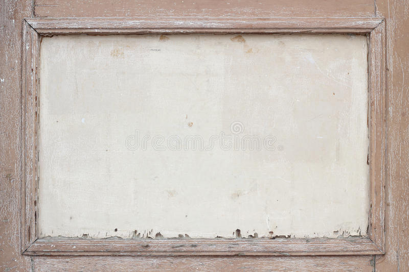 Old and weathered brown wooden frame royalty free stock images
