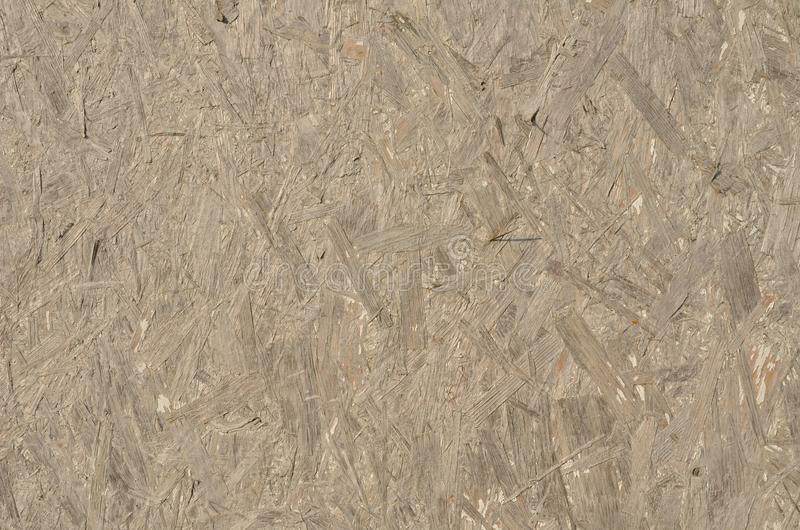 Old weathered chipboard. Wooden background royalty free stock photo