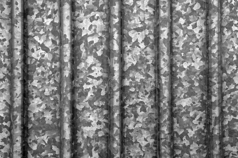 Old weathered corrugated zinc texture background with rust. stock photography