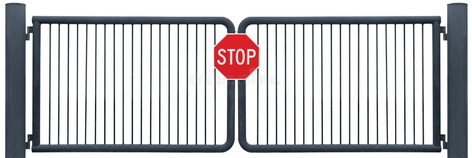 Download Old Weathered Gate Stop Sign Black Isolated Stock Image - Image of closed, metal: 20969033