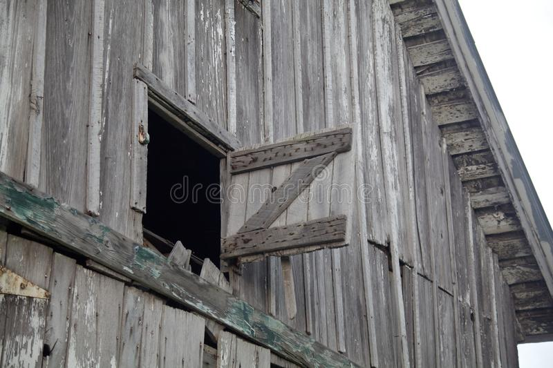Download Old Weathered Gray Barn Open Hay Loft Stock Image - Image of door loft & Old Weathered Gray Barn Open Hay Loft Stock Image - Image of door ...