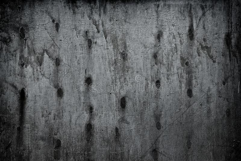 Shabby silvery gray metal wall surface - dark grunge background royalty free stock photography
