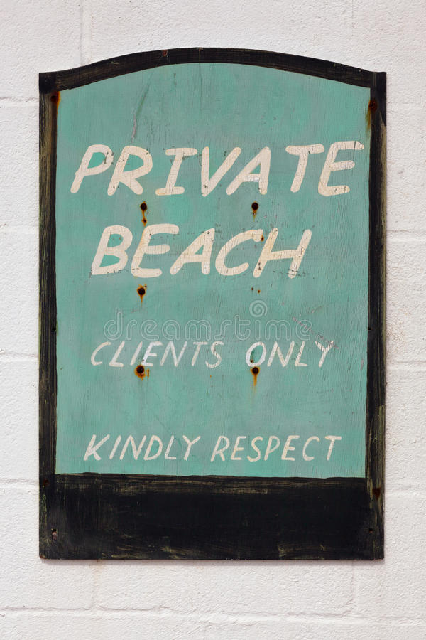 Download Old Weathered Private Beach Sign Stock Images - Image: 30758444
