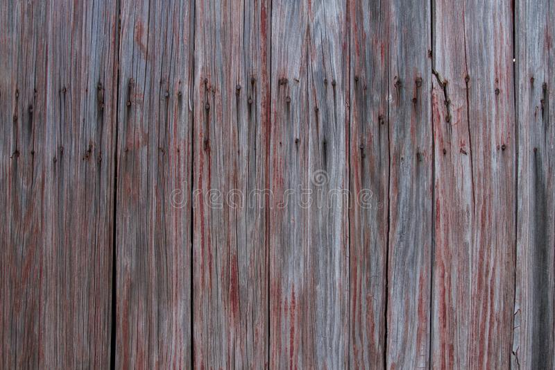 Old Weathered Red Barn Wood stock photography