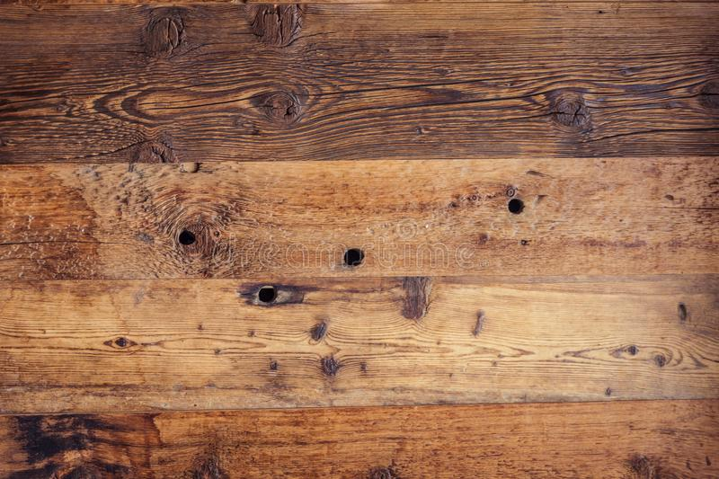 Old, weathered wooden board stock image