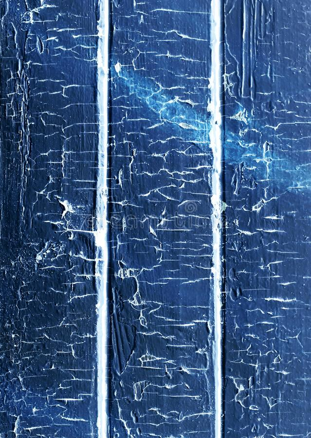 Old wooden plank painted in blue color royalty free stock images