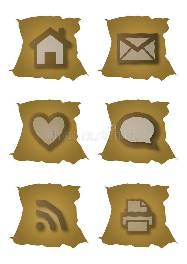 Old web icons vector illustration
